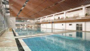 Yüzme havuzunun temeli atılıyor