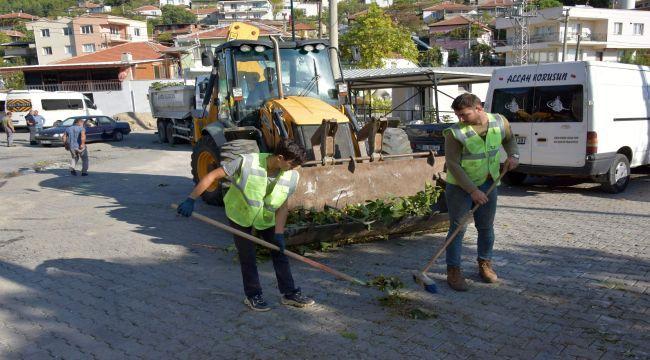 Aliağa Belediyesi, Bozköy'de Çalışmalarına Devam Ediyor